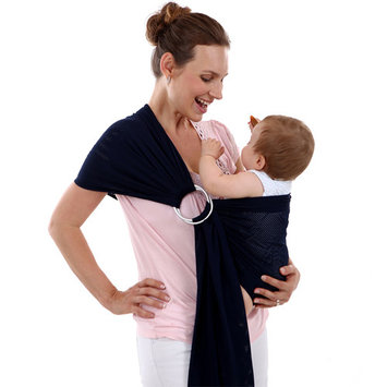 Baby Water Ring Sling Carrier | Lightweight Breathable Mesh Baby Wrap for Infant, Newborn, Kids and Toddlers | Perfect for Summer, Swimming, Pool, Beach (Gray)