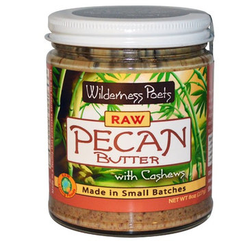Wilderness Poets, Raw Pecan Butter with Cashews, 8 oz (227 g)