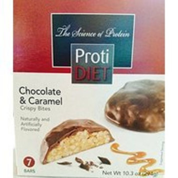 Proti Diet Chocolate & Caramel Crispy Bites-7 Bars, 10.3 oz [Chocolate & Caramel]
