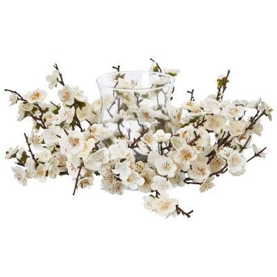 Nearly Natural Plum Blossom Candelabrum
