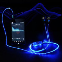 Lytecordz Sport Glow LED Flash Light Glowing Stereo Earphone Earbud Headphone Headset W/ Mic