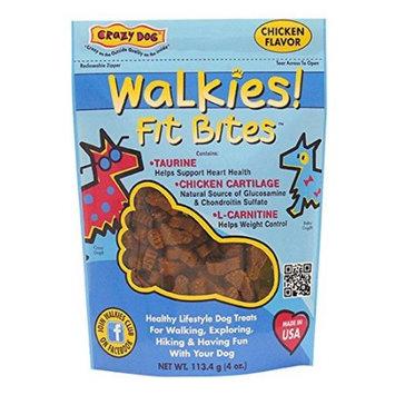 Crazy Dog Walkies! Fit Bites Chicken Dog Treats, 4 oz.