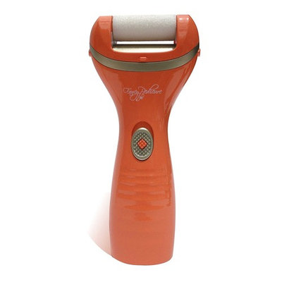 Callus Remover Pedicure Tools Kit for Feet + 2 Refill Rollers - Cordless Electronic File Healthy Sexy Smooth Foot Hand - Orange