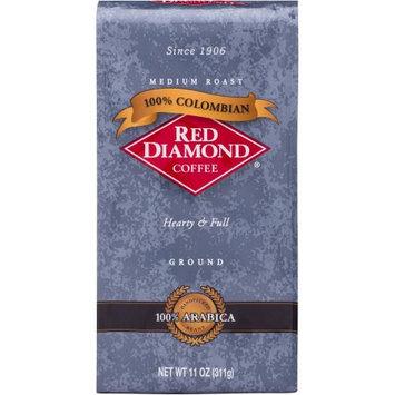 Red Diamond Coffee 100% Colombian Medium Roast Ground Coffee, 11 oz