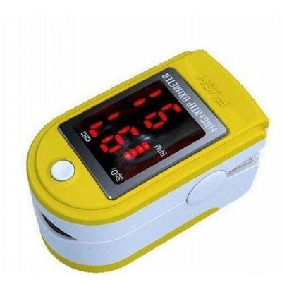 Lotfancy® (CE FDA Approved) -- Portable Sports and Aviation Finger Pulse Oximeter OX Spo2 Fingertip Oxygen Digital Monitor -- SPO2 / PR (Pulse rate) / Pulse Intensity value Display -- (Can be used in such Sports activities: Mountain Climbing, High-Altitude Street Cycling and Light Jogging, Speed Walking and Running etc.) (Yellow with LED Display)