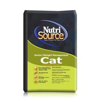 Tuffies Pet Nutrisource Sr. Weight Chicken/Rice Dry Cat Food