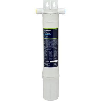 Ecopure Main Faucet Under Sink Water Filtration System, White