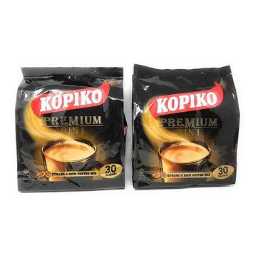 2 Packs Kopiko 3 in 1 Instant Coffee, 21.2 oz, (30 Sachets)