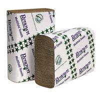 Renown C-Fold Paper Towels, Natural, 10 1/8'' X 13'', 2,400 Sheets Per Case