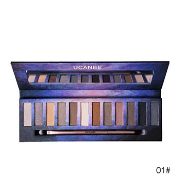12 Colors Beauty Brick Eyeshadow Smoky Matt Pigment Palette Makeup Set