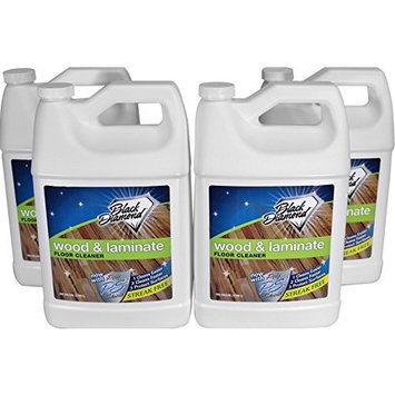 Black Diamond Wood & Laminate Floor Cleaner 4-Gallons: For Hardwood, Real, Natural & Engineered Flooring –Biodegradable Safe for Cleaning All Floors