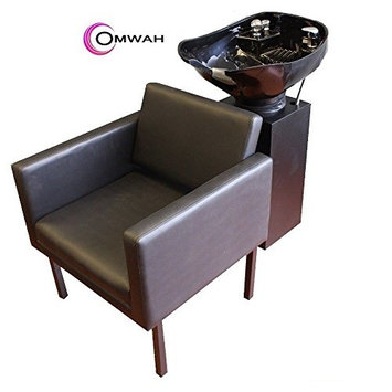 Beauty Salon Shampoo Chair Bowl Backwash Station with Adjustable ABS Plastic Bowl and Triple-Certified Vacuum Breaker Omwah Brand