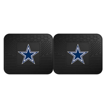 FANMATS Dallas Cowboys 2-Pack Utility Backseat Car Mats