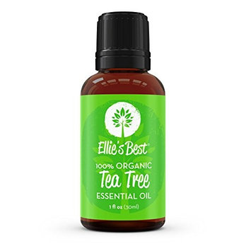 Organic Tea Tree Essential Oil - Therapeutic Grade - Melaleuca Oil from Melaleuca alternifolia - For Aromatherapy, Essential Oil Diffuser & Personal Care - Uncut & Pure - by Ellie's Best - Lg.1oz/30ml