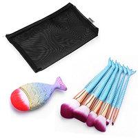 Fish ScaleMake Up Foundation Eyebrow Eyeliner Blush Cosmetic Concealer Brushes