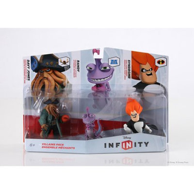 Disney Infinity Figure 3pk Villain - Randall, Davy Jones, Syndrome