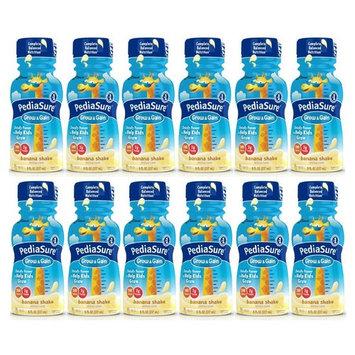 PediaSure Grow & Gain Nutrition Shake For Kids, Banana, 8 fl oz (Pack of 12)