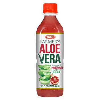 OKF Farmers Aloe Drink, Pomegranate, 16.9 Fl Oz