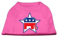 Mirage Pet Products 517607 MDBPK Republican Screen Print Shirts Bright Pink M 12