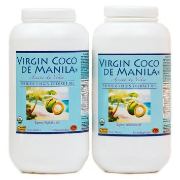 Organic 100% Virgin Coconut Oil Lot 2 x 32 oz/64 oz Manila Coco NO BLEND 1 Extraction 1 Site: Clean Label NATIVE FRESH FLAVOR-LOCK : RANCID-SHIELD Nutrient Dense Dry-Desiccated 100% Full Fat Raw Mat
