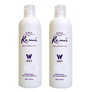 [Pack of 2] Bobos Remi Soft Hold Liquid Gel 8.45 oz Brings Hair Back to Life : Beauty