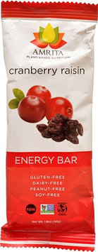 Amrita Health Foods Endurance Bar Cranberry Raisin 1.8 oz - Vegan