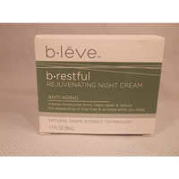 b leve b restful Rejuvenating Night Cream Anti Aging Natural Grape Extract Technology 1.7 fl oz 50ml