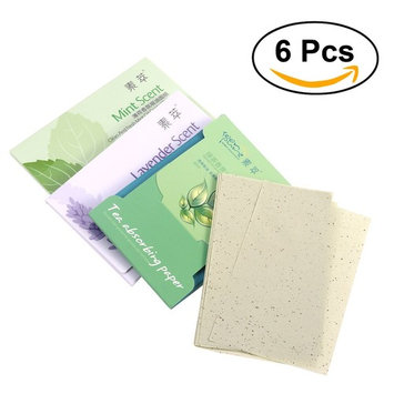 Frcolor Face Oil Blotting Paper Oil Absorbing Sheets Pack of 6