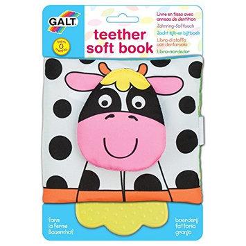 Galt Toys, Teether Soft Book - Farm