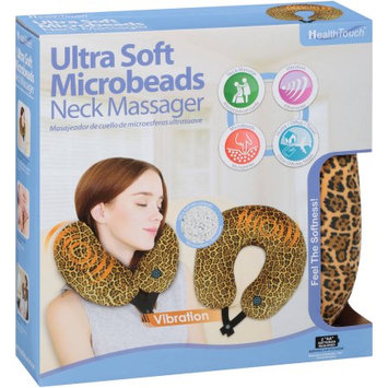 Leader Light Limited Health Touch Ultra Soft Microbeads Neck Massager, Cheetah