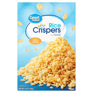 Great Value Breakfast Cereal, Rice Crispers, 12 Oz