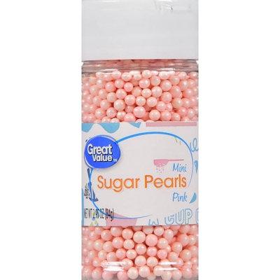 Wal-mart Stores, Inc. Great Value Mini Pink Sugar Pearls, 2.95 oz