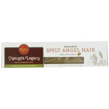 Nature's Legacy Organic Angel Hair Pasta d'Abruzzo, 8-Ounce Boxes (Pack of 12)