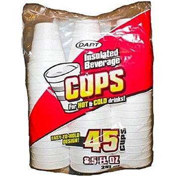 Dart Foam Cups 8.5 oz. 45-Count (Pack of 24)