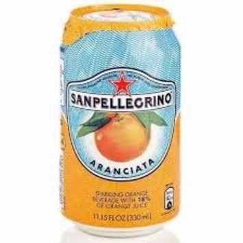 Sanpellegrino Orange/Aranciata Sparkling Fruit Beverage, 11.15 fl oz. Cans (48 Count)