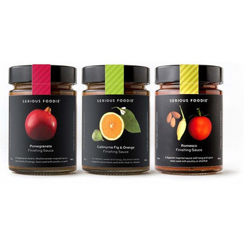 The Serious Foodie Gourmet Sauces - Perfect for Finishing: Romesco Finishing Sauce, Pomegranate Finishing Sauce, Calimyrna Fig & Orange Finishing Sauce