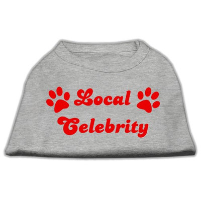 Mirage Pet Products 5141 XLGY Local Celebrity Screen Print Shirts Grey XL 16