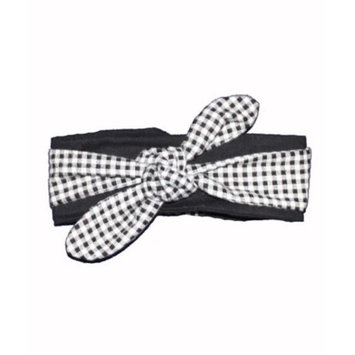 Young And Free Apparel Black & White Checkerboard Head Wrap