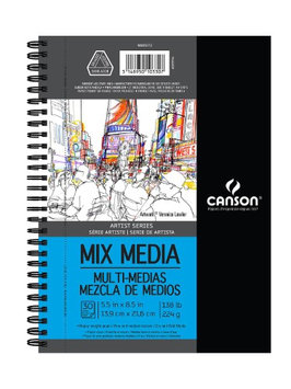 Canson Artist Series Mix Media Book 5.5 in. x 8.5 in, 30 sheets [pack of 2]