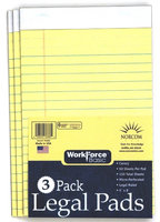 Norcon Industries Norcom Inc 76686-6 5 in. X 8 in. Canary Legal Pad 50 Pages 3 Count