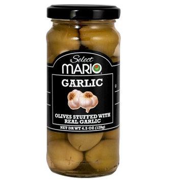 Mario Camacho Foods Green Olives, Garlic Stuffed, 4.5 Fluid Ounce [Garlic Stuffed]