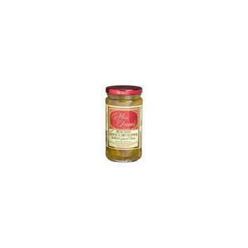 Miss Leone's Fire Roasted Jalapeno (SPICY) Stuffed Gourmet Queen Spanish Green Olives Net Wt 12 oz
