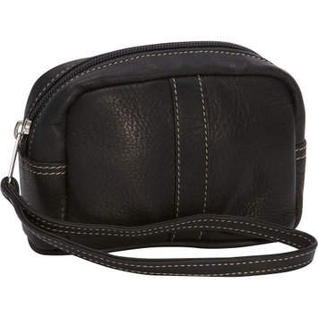 Piel Leather Cosmetic Case - - 2590-BLK