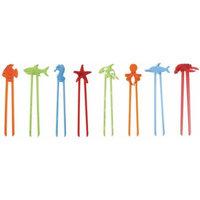 Abilitations Fish Sticks 1 Piece Chopsticks, Assorted Colors, Set of 48