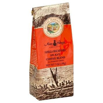 Royal Hawaiian 10% Ka'U Blend Vanilla Macadamia Medium Roast Ground Coffee - 7oz