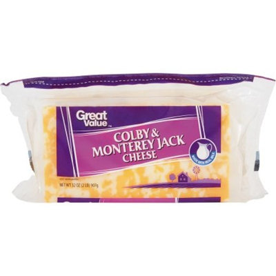 Great Value Colby & Monterey Jack Cheese, 32 oz