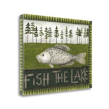 Tangletown Fine Art 'Fish the Lake' Graphic Art Print on Canvas