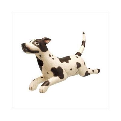 Bobbo Dog Leaping White W/ Black Spots Birdhouse
