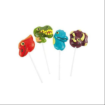 Frosted Dino-Mite Lollipop Suckers Pack of 12
