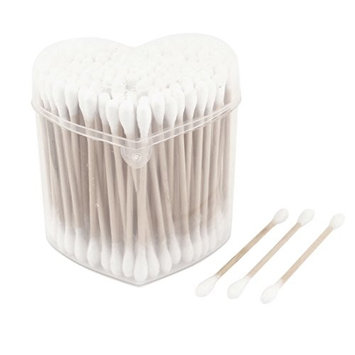 uxcell 100 Pcs Double Tipped Stick Cosmetic Make Up Cotton Swabs Buds